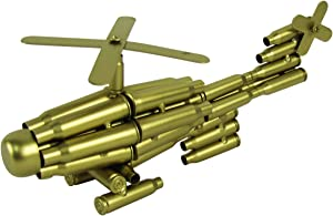 TG,LLC Treasure Gurus Bullet Shell Casing Shaped Helicopter Military Gift Chopper Gun Casings Shells