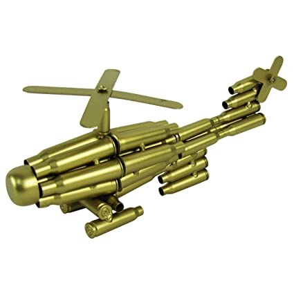 Amazon Com Bullet Shell Casing Shaped Helicopter Military Gift