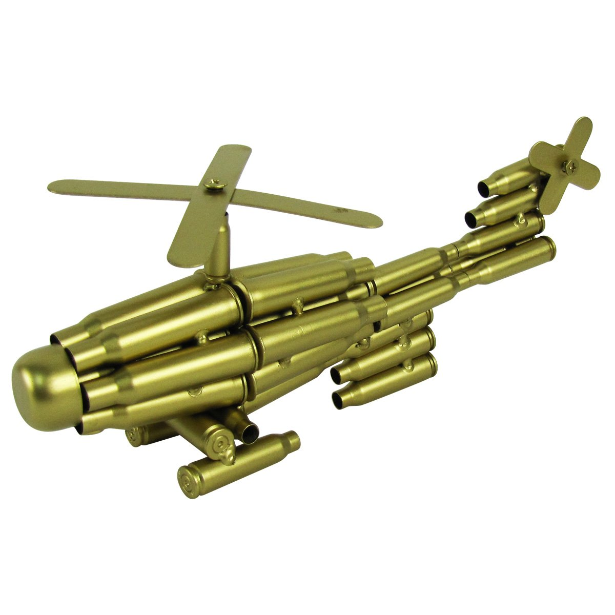 Bullet Shell Casing Shaped Helicopter Military Gift Chopper Gun Casings Shells by TG,LLC