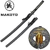 """MAKOTO Handmade Sharp Tsunami Japanese Katana Samurai Sword 40"""""""