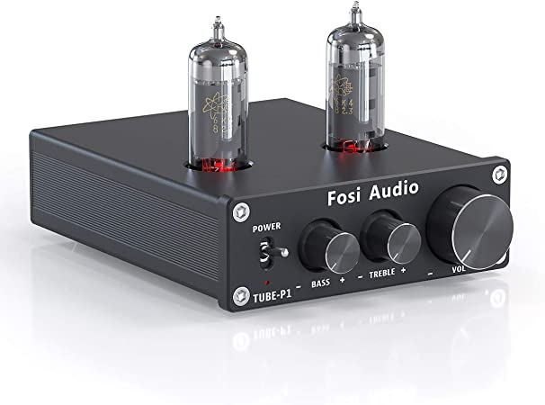 Fosi Audio P1 Tube Pre-Amplifier Mini Hi-Fi Stereo Buffer Preamp ...