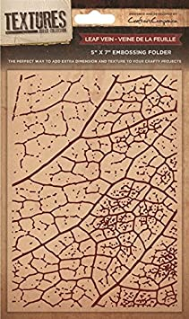 Crafters Companion Textures Folder Leaf Vein, Brown, 8 x 8-Inch Crafter' s Companion EF8-LEAF