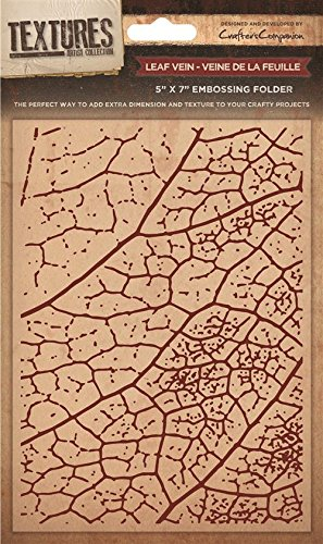 Crafters Companion Textures Folder Leaf Vein, Brown, 8 x 8-Inch Crafter's Companion EF8-LEAF