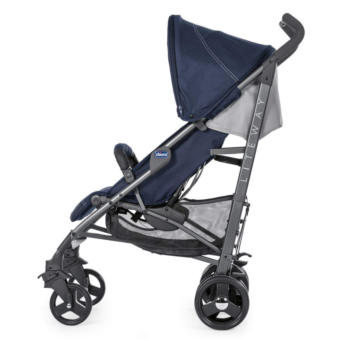 Chicco Liteway 3 Silla de paseo plegable y multifuncional, Unisex Bambini, Azul (India iIk)