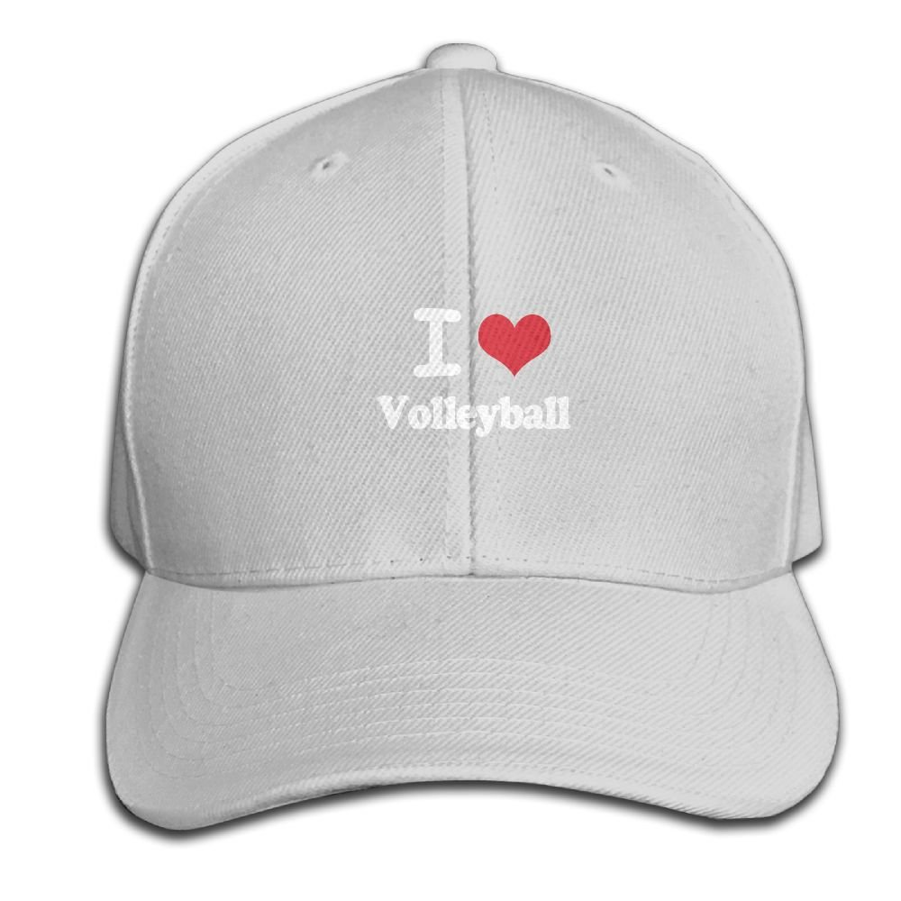 HXXUAN Baseball Hats Volleyball Love Snapback Sandwich Cap Adjustable Peaked Trucker Cap