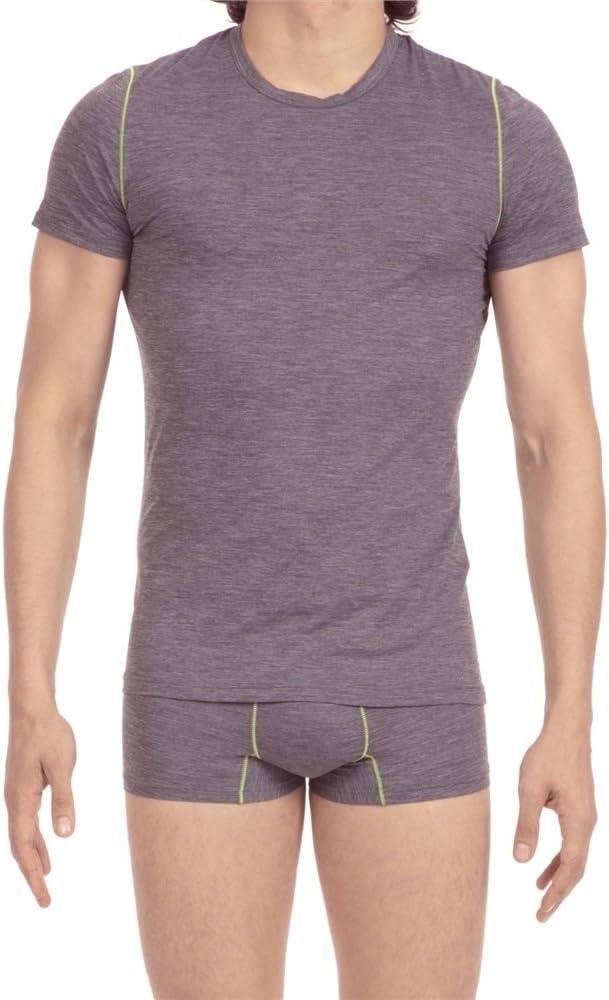 HOM - Camiseta interior - para hombre Gris gris XL: Amazon.es: Ropa y accesorios