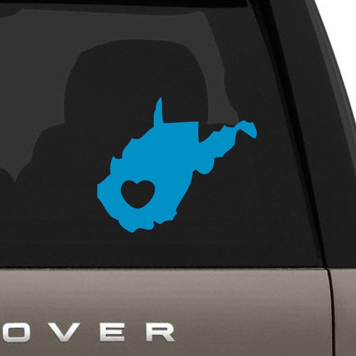 【人気商品!】 I Love West Decal H Virginia車デカール、Die x Cut Vinyl Decal for Windows車、トラック、ツールボックス、ノートパソコン、ほぼすべてmacbook-ハード、滑らかな表面 12
