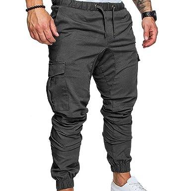 WOOPOWER Pantalones de chándal para hombre, estilo casual, para ...