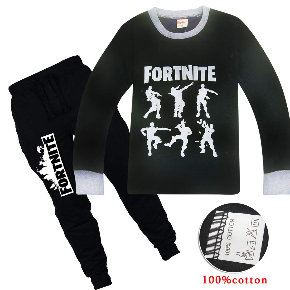 Fortnite Games Cotton Pullover Set Unisex Boys Girls Crew-Neck Sweatshirt Set