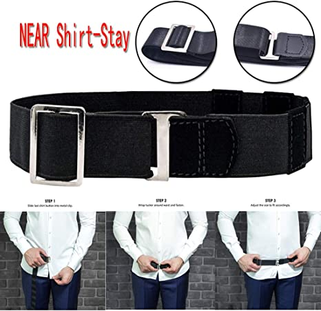 Adjustable Near Shirt-Stay Best Shirt Stays Tuck It Belt Shirt Tucked Men/'s Belt
