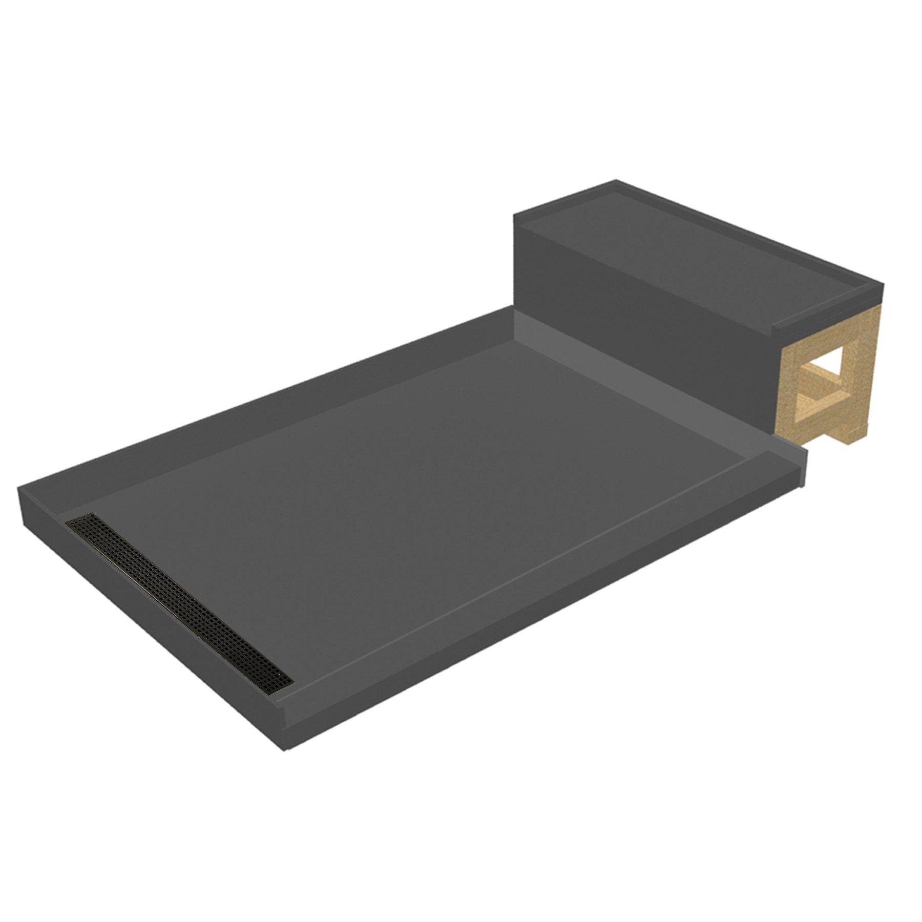 Tile Redi USA RT3048L-OB-RB30-KIT-2.5 Base'N Bench Shower Pan
