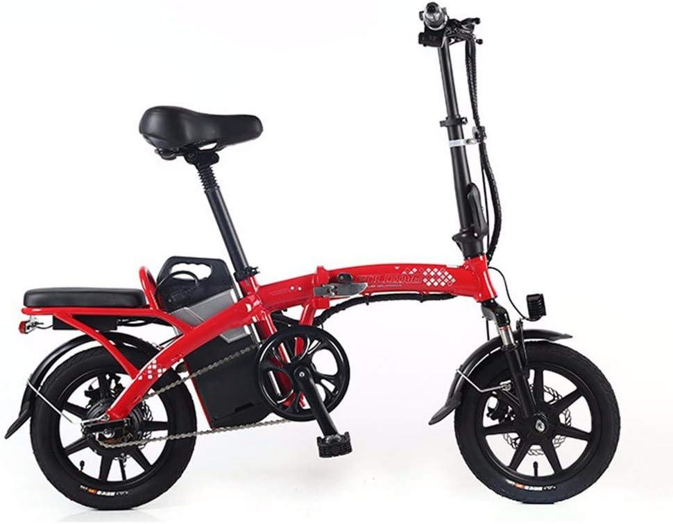 XCBY Triciclo de Movilidad eléctrica, Scooter eléctrico para Adultos, Bicicleta eléctrica Plegable y portátil, Motor máximo de 350 W, con luz LED y Pantalla