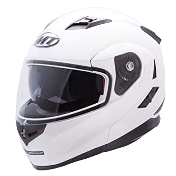 Casco Moto modulable MT Flux – doble pantalla – blanco – Talla XL