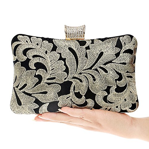 Women And European Bag Fashion Evening American Bag Ladies Banquet color Beaded Bag Hkc 1 Evening 1 Hand qwnEx08Bf1