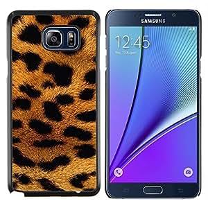 LECELL--Funda protectora / Cubierta / Piel For Samsung Galaxy Note 5 5th N9200 -- piel de pantera patrón de los animales de África de oro --