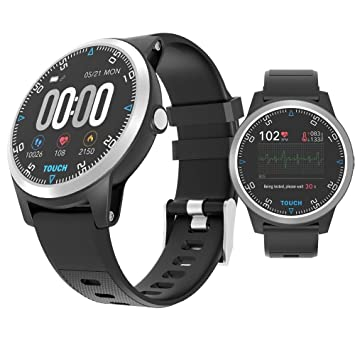 ZLOPV Pulsera Reloj Inteligente ECG PPG Monitor de ...