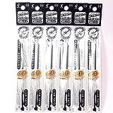 Pilot Hi-Tec-C Coleto Gel Ink Pen Refill 0.4mm, Black, × 6 Packs/total 6 pcs (Japan Import) [Komainu-Dou Original Package]