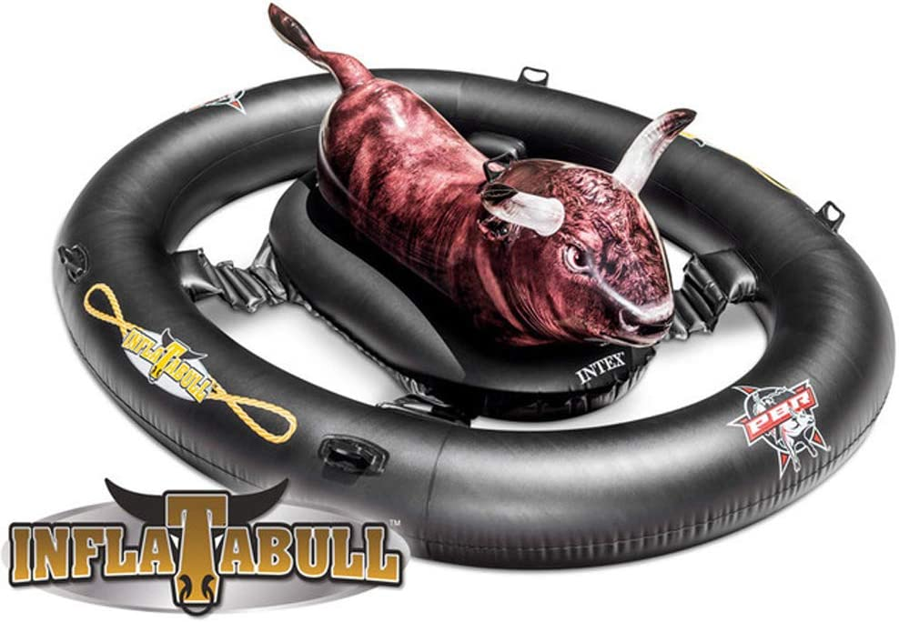 ACC Juguetes de Flotador inflables para niños de la Piscina Summer Lake Riding Bull - Negro