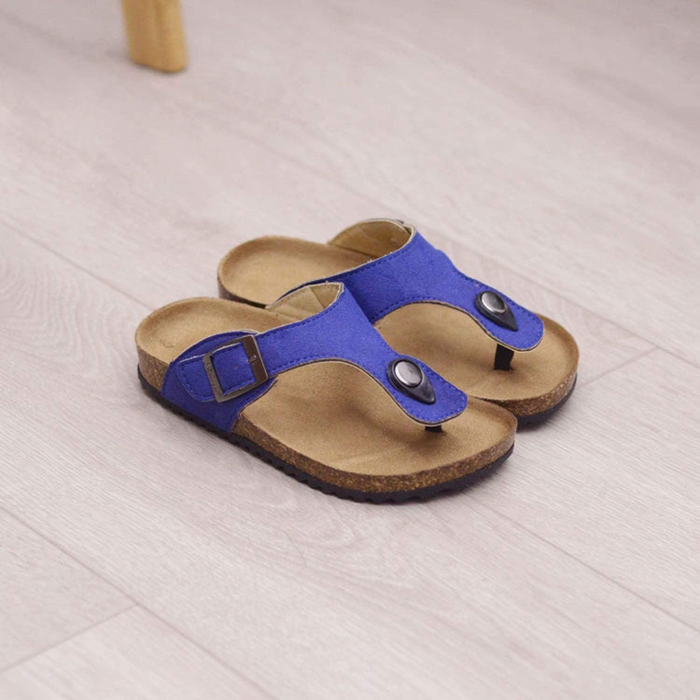 Boys Sandals Summer Style Children Leather Shoes Kids Beach Shoes for Girl Boys Cork Slipper