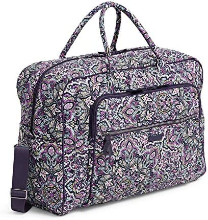 Vera Bradley Women's Signature Cotton Grand Weekender Travel Bag, Bonbon Medallion, One Size US