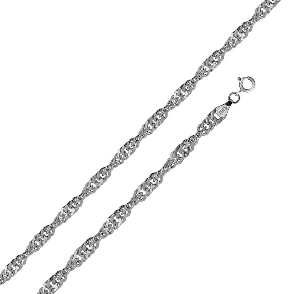 CloseoutWarehouse High Polished Sterling Silver Singapore 050 Chain 2.8mm
