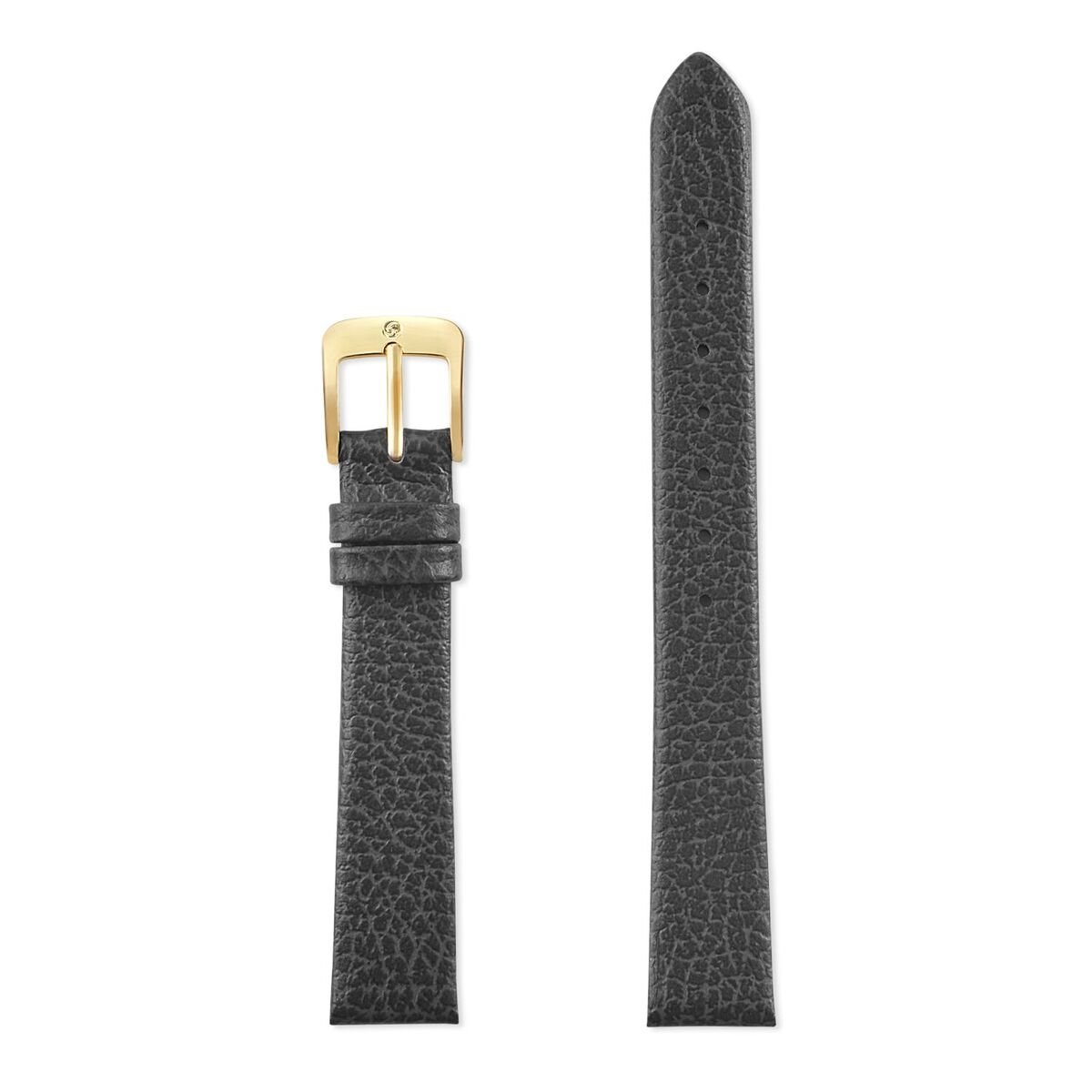 Speidel Genuine Leather Watch Band 12mm Black Fine Cowhide Replacement Strap, Stainless Steel Metal Buckle Clasp, Watchband Fits Most Watch Brands by Speidel (Image #2)