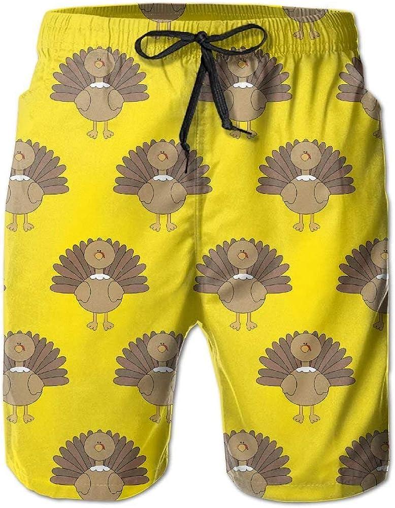 yuqiang ZrGo Mens Thanksgiving Turkey Quick-Dry Summer Beach Surfing Board Shorts Swim Trunks Cargo Shorts