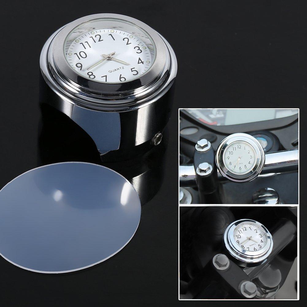 Qiilu 7//8 Moto Horloge Num/érique de Montage de Guidon de Moto Etanche