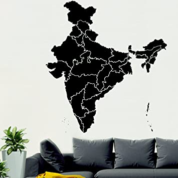 Buy WallMantra India Map Wall Sticker Online at Low Prices in