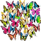 Butterfly Stakes, 50pcs 11.5inch Garden Butterfly Ornaments, Waterproof Butterfly Decorations for Indoor/Outdoor Yard, Patio Plant Pot, Flower Bed, Christmas Decoration: more info