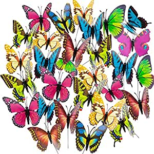 Amazon.com: Butterfly Stakes, 50pcs 11.5inch Garden ... on Backyard Decorations Amazon id=97814