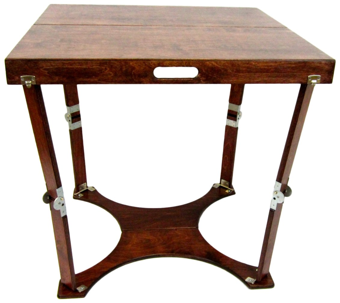 Spiderlegs Folding Cafe Table, 30-Inch, Mahogany