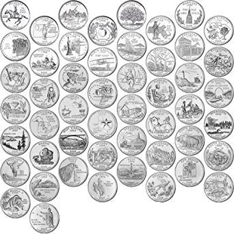 nice! 1999-2008 COMPLETE SET OF STATE QUARTERS 50 uncirculated