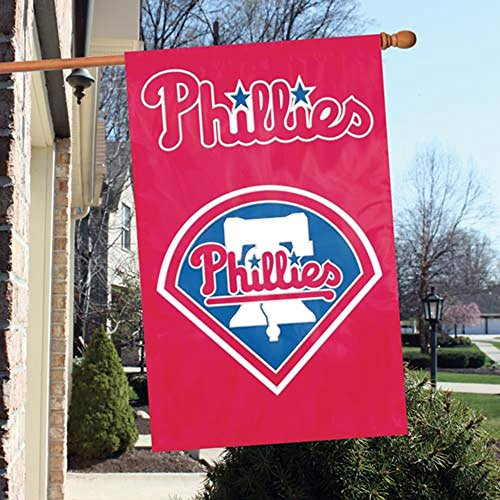 l Major League Baseball Fan Shop Authentic MLB Team Sports Man Cave Flag - Banner (Philadelphia Phillies) ()