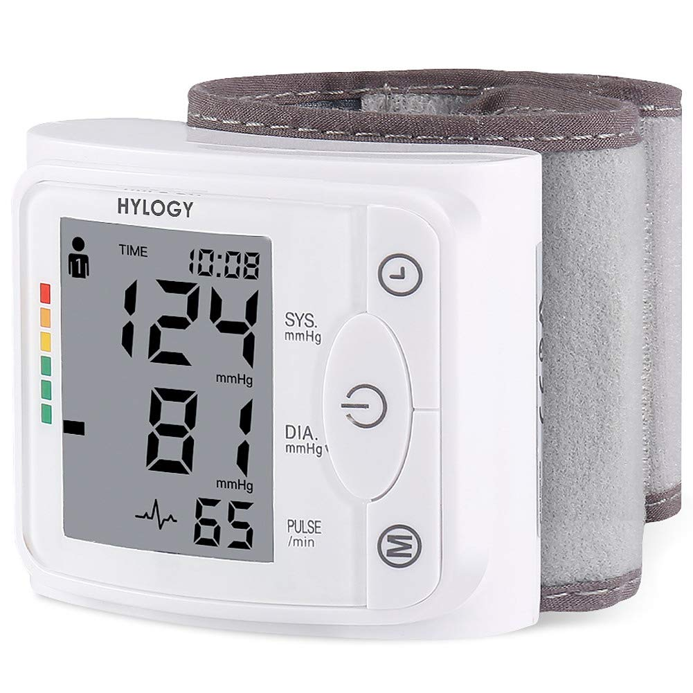 Blood Pressure Monitor HYLOGY Clinically Accurate Automatic Wrist Blood Pressure Cuff Monitor 2 * 120 Memory Storage FDA CE RoHS Approved by HYLOGY