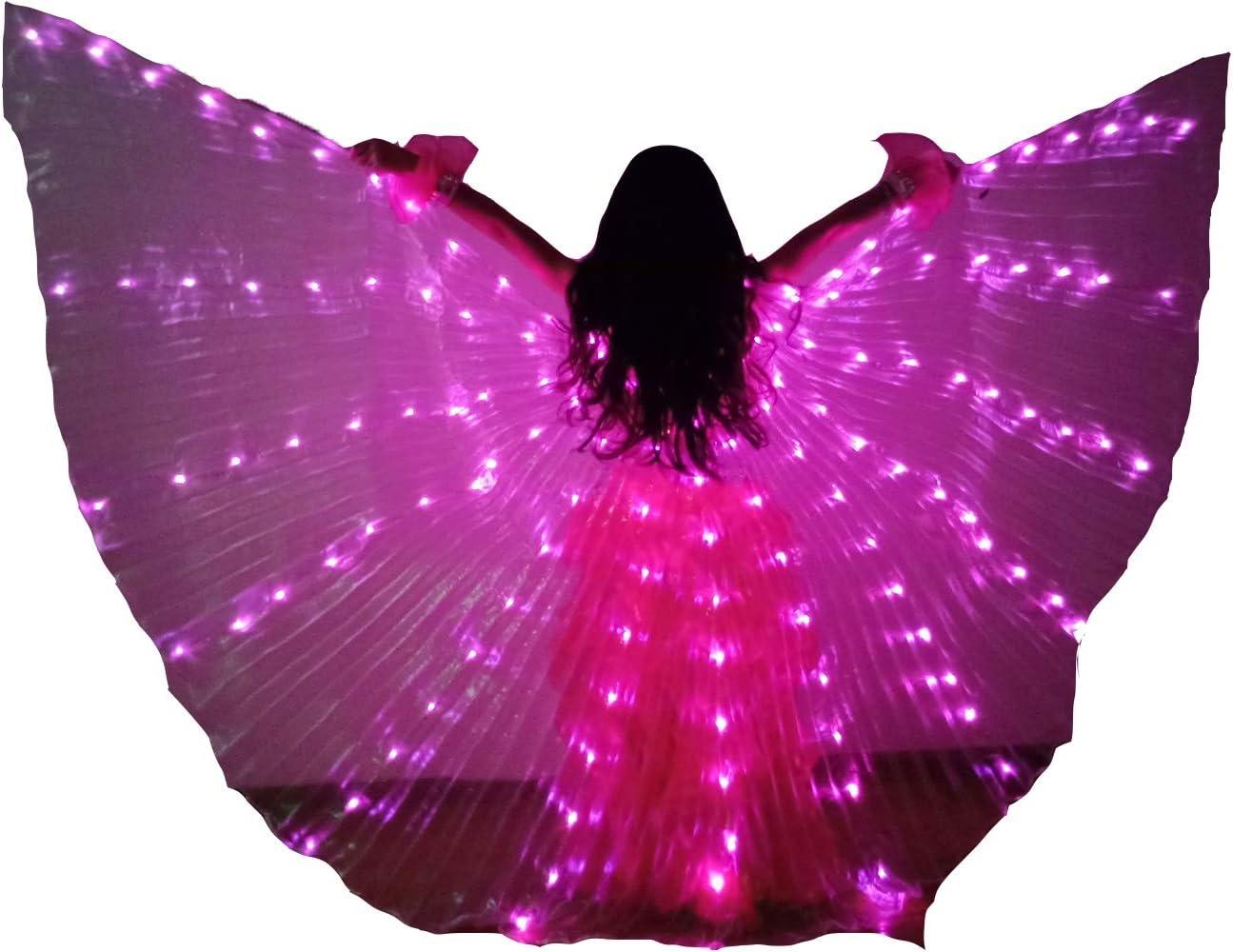 Encender ISIS Wings Niño Hada ala LED Color sólido Traje de Danza ...