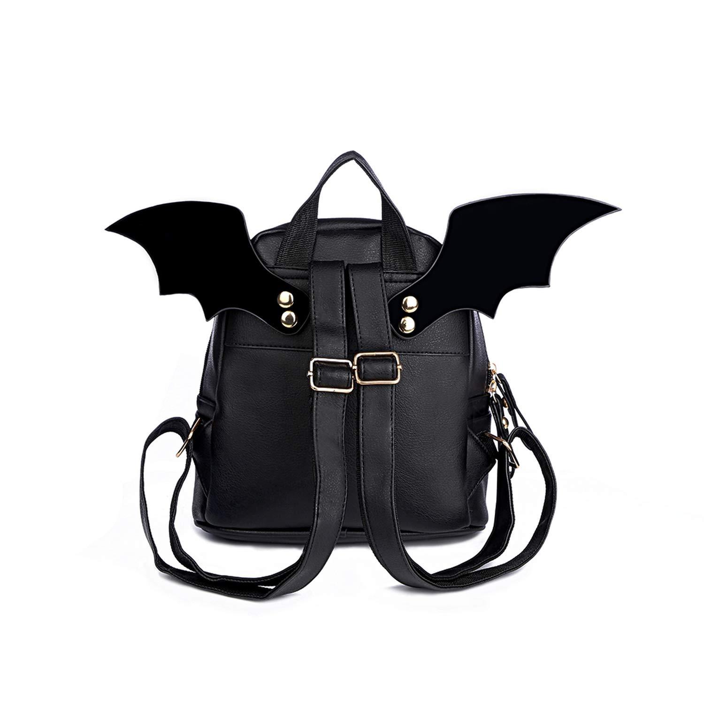 a848e79cd26 Amazon.com  PU Leather Backpack Women Bat Wings Backpacks Teenage Girls  Mini Bag Small Shoulder Bag