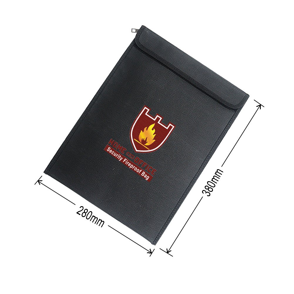 Files Jewelry Money Protect Your Valuables Passport Documents Zipper Closure Maximum SPH024 Fireproof Document Bags Sepanda 15 x 11 Fire Water Resistant 2000/°F Cash Envelope Waterproof Holder Pouch