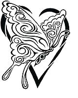 アゲハ蝶のタトゥーシール トライバルバタフライ #3