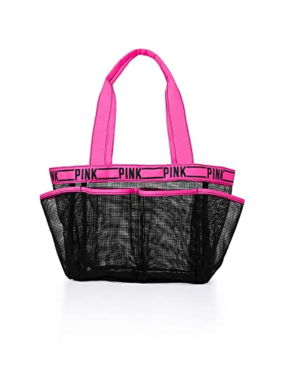 Amazon.com: Victoria\'s Secret Pink! Mesh Shower Caddy Black/ Pink + ...