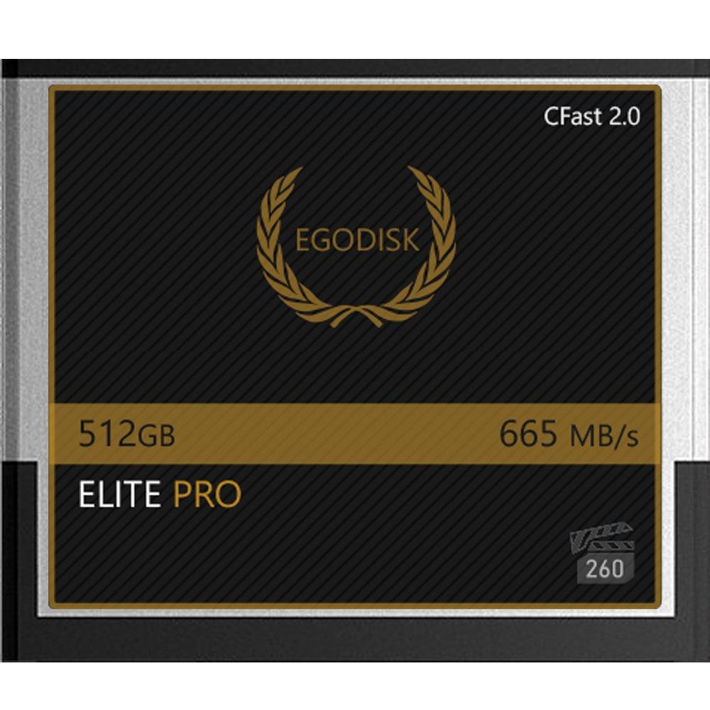 EgoDisk Elite PRO 512GB CFast 2.0 Card - BLACKMAGIC Design URSA Mini 4K • 4.6K 2160p Lossless RAW up to 45 FPS - 3 Year Warranty by EgoDisk