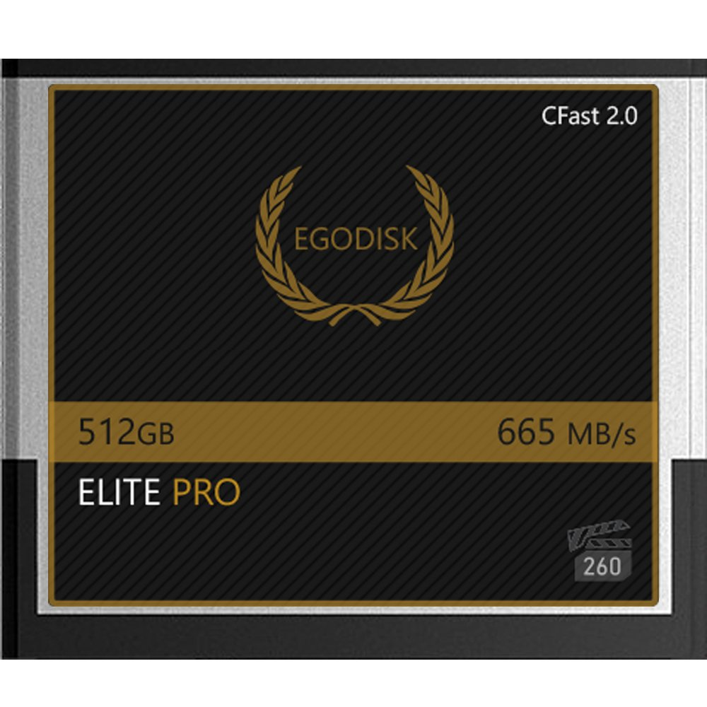 EgoDisk ELITE PRO 512GB CFast 2.0 Card - BLACKMAGIC DESIGN URSA MINI 4K • 4.6K 2160p Lossless RAW up to 45 FPS - 3 Year Warranty