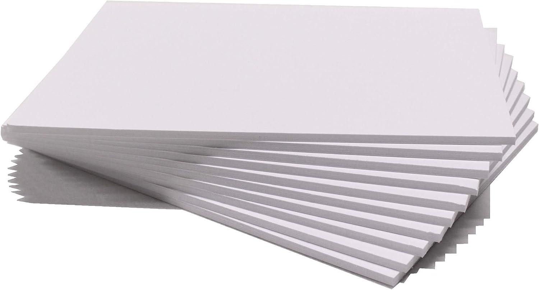 Chely Intermarket carton pluma blanco A3 con espesor de 5mm/10 unidades/foam board rectangular para manualidades, foto o soporte (540-A3*10-0,95)