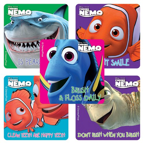 SmileMakers Disney Finding Nemo Dental Stickers - 100 Per Pack