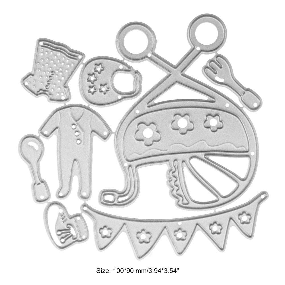Amazon.com: Mikolot Baby Stroller Clothes Metal Cutting Dies ...