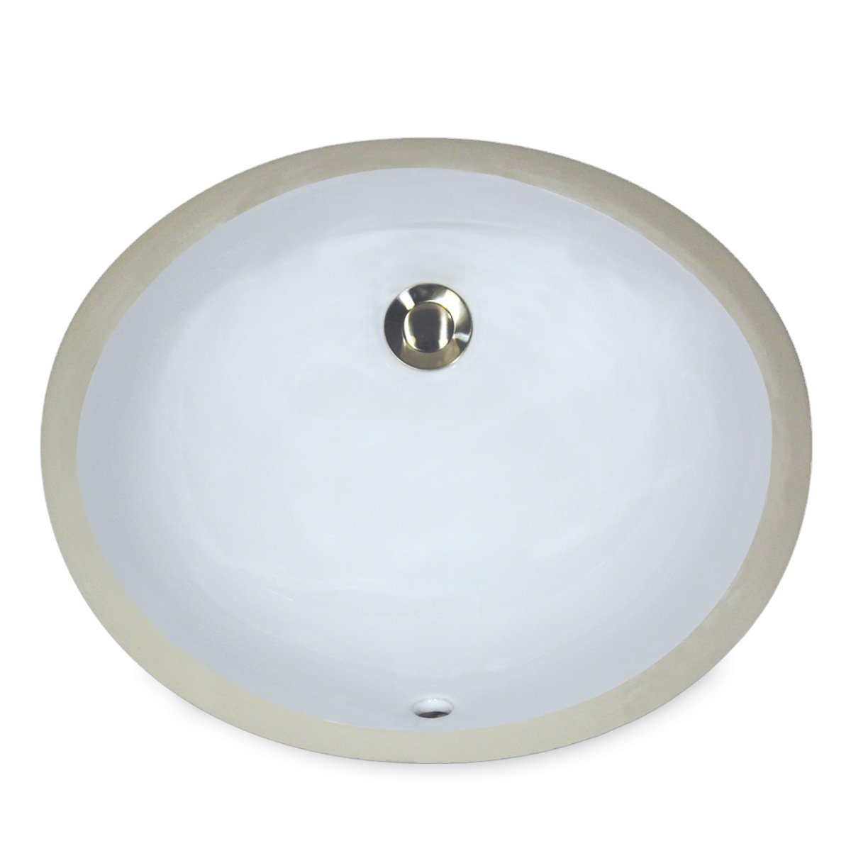 Nantucket Spülen um-17X 14-w-k 43cm von 35,6cm oval Keramik Unterbau Vanity Waschbecken, Weiß Nantucket Sinks UM-17x14-W-K