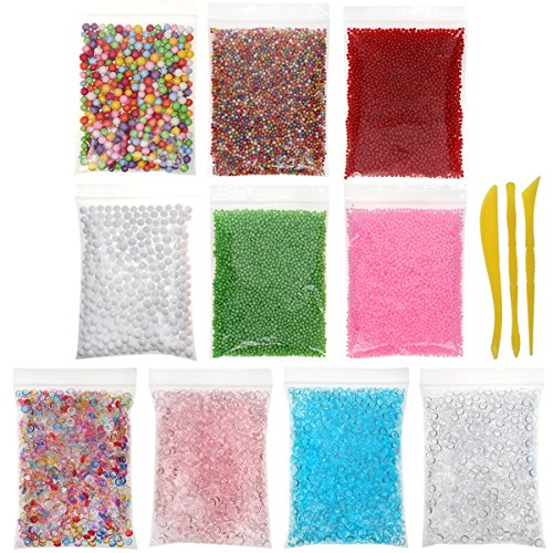 13 Pack Cheap Slime Foam Balls Fishbowl Beads Slime Making kit Accessories by Hulluter from Hulluter