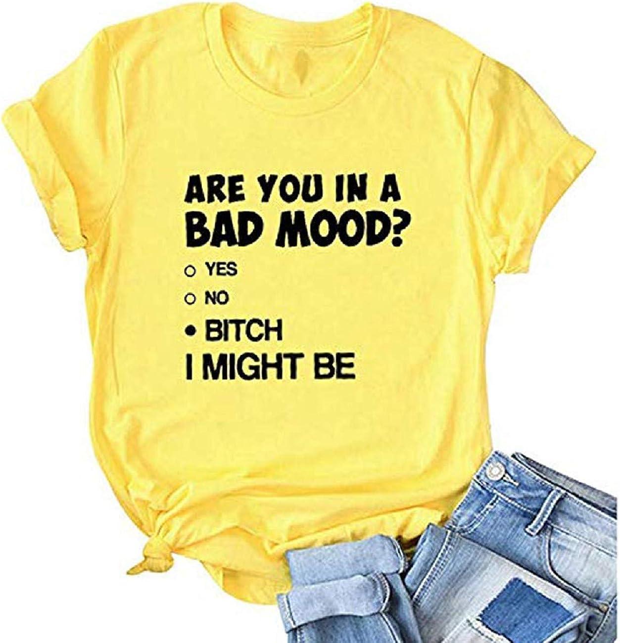 FAPIZI Women T-Shirt Letter Printing Short Sleeve Pullover Tops Raglan O Neck Tee Tunic Blouse