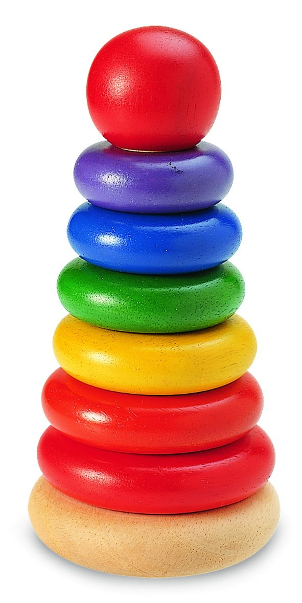 Wonderworld New Stacking Rings Baby Toy - Multi- Colored 7 Rings Non - Toxic by Wonderworld (Image #1)