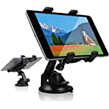 Car Tablet iPad Holder Mount, Suction Cup Tablet Holder Stand for Car Windshield Dash Desk Kitchen Wall Compatible with iPad